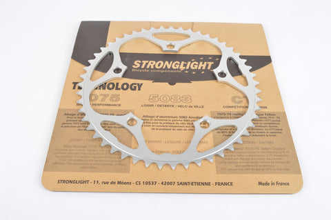 Stronglight Route/Road Chainring in 38, 39, 42, 44, 50, 51, 52, 53 teeth and 130 BCD silver