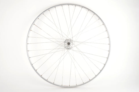 "28"" Front Wheel with Fiamme Pista tubular Rim and F.B. Fratelli Brivio high flange Hub from 1950s"