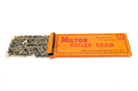 "NEW Milton Roller Chain 1/2inch X 3/32"" for 5/6/7-speed from the 1980s NOS/NIB"