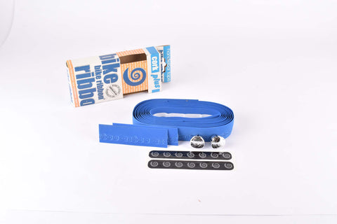 NOS Bike Ribbon Cork Plus branded Ciöcc handlebar tape in blue from the 1980s