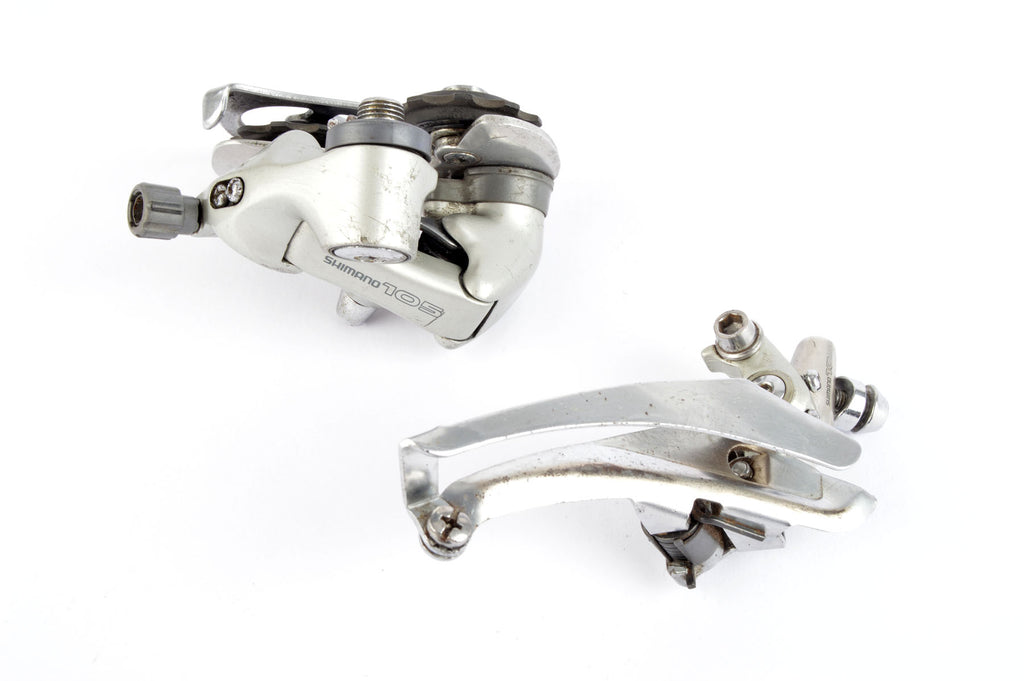 Shimano 105 #FD-1055 #RD-1055 Front + Rear Derailleur Set from 1990/91  Shimano 105 #FD-1055 #RD-1055 Front + Rear Derailleur Set from 1990/91