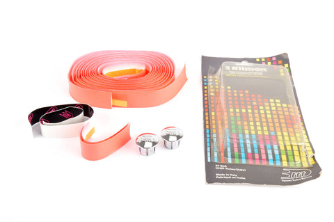 NEW 3ttt pink handlebar tape with silver end plugs from the 1990s NOS/NIB