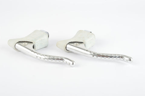 NOS Campagnolo Super Record Brake Lever Set #4062 with white shieldlogo hoods from the 1980s