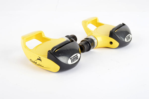 Time Gazelle Gold Line Clipless Pedals with english threading from the 1990s