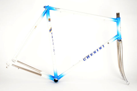 Chesini frame  in 61.5 cm (c-t) / 60 cm (c-c), with Columbus tubing