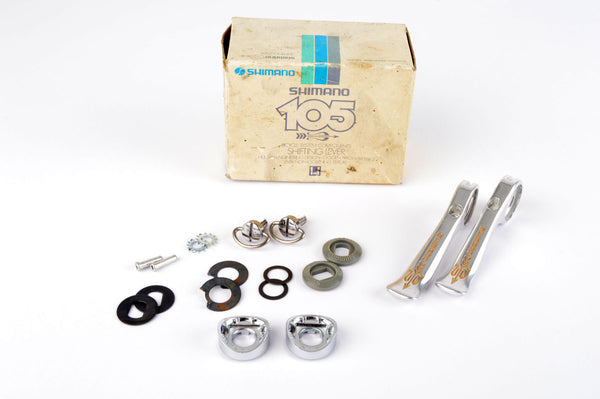 NEW Shimano 105 Golden Arrow #SL-A105 braze-on shifters from 1983-86 NOS/NIB