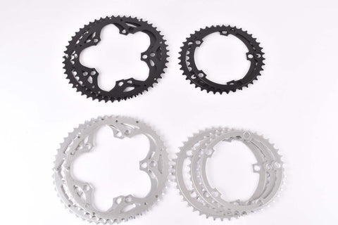 Aluminium Chainring with 38, 39, 42, 48, 50 teeth and 130 BCD, silver or black