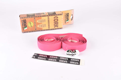 NOS Silva Cork handlebar tape in pink from the 1990s