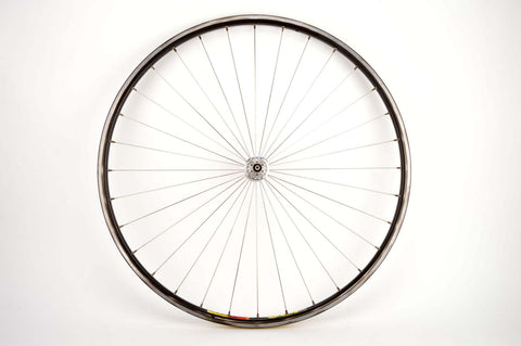 Radial spoked front Wheel with Mavic Open SUP CD clincher rim and Mavic 501 hub from the 1980s