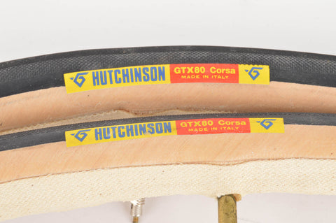 NEW Hutchinson GTX 80 Tubular Tires 700c x 23mm from the 1980s NOS