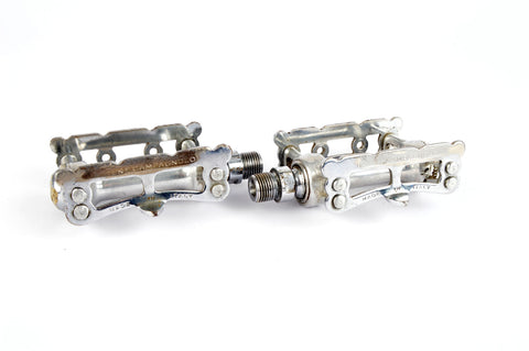 Campagnolo Record Pista Pedals with english threading from the 1960s