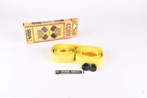 NOS Silva Cork handlebar tape in yellow from the 1990s