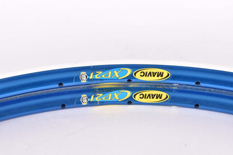 NOS Mavic CXP 21 clincher rimset (2rims) 700c/622mm with 32 holes from the 1990s, blue