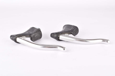 Campagnolo Nuovo Gran Sport #1040/1A non-aero Brake Lever Set with black shield logo hoods from the 1980s