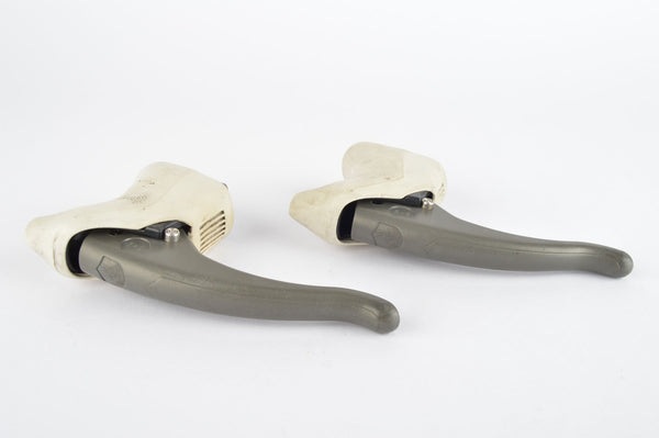 Campagnolo Xenon brake lever set with white hoods from the 1990s