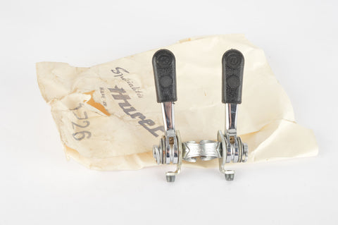 NOS Huret #1726 Clamp-on Gear Lever Set with plastic covers, from the 1970s