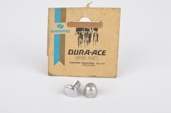 NOS/NIB Shimano First Generation Dura Ace (Crane) Rear Derailleur Cable fixing Bolt and Nut, from 1973