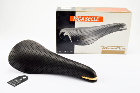NEW Iscaselle Vuelta leather saddle from 1992 NOS/NIB