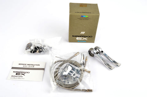 NEW Shimano 600EX #SL-6207-FA braze-on shifter set from the 1980s NOS