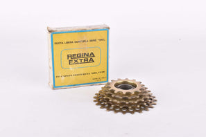 NOS/NIB Regina Oro 5-speed golden Freewheel with 14-24 teeth and english thread from 1985