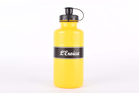 Elite Vintage Eroica water bottle in yellow