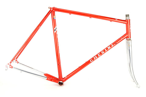 Chesini Precision frame  in 56.5 cm (c-t) / 55 cm (c-c), with Columbus tubing