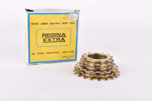 NOS/NIB Regina Oro 6-speed golden Freewheel with 13-20 teeth and italian thread from 1981
