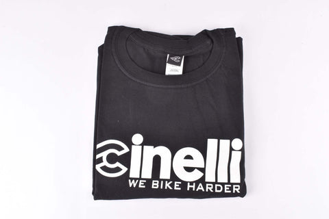 Cinelli we bike harder T-Shirt, black