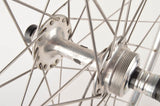 Wheelset with Nisi Mercurio D'Oro 1977 tubular rims and Campagnolo Record #1034 hubs from 1970s