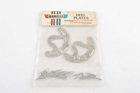NOS Barelli stainless steel nail-on heel plates from the 1970s NIB