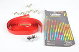NOS/NIB 3ttt darkred handlebar tape with silver end plugs from the 1980s