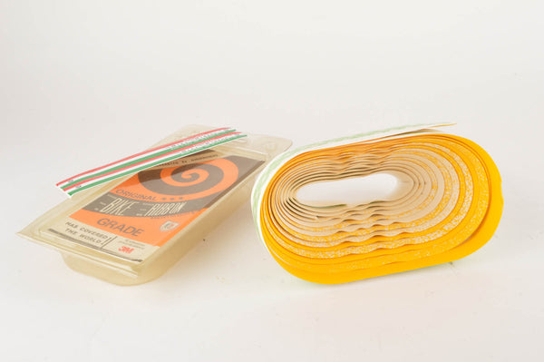 NEW Ambrosio Yellow/White Handelbar tape from the 1980s NOS