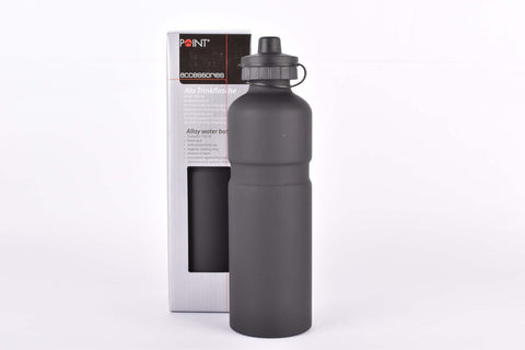 Point water bottle, alu, black