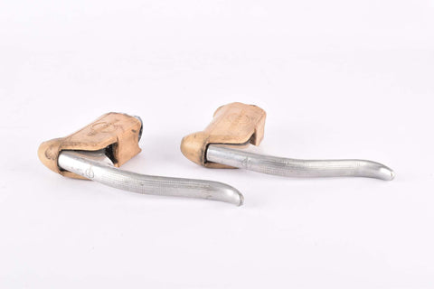 Weinmann AG Vainqueur 999 non-aero Brake lever set with white hoods from the 1960s