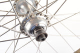 Wheelset with Campagnolo Victory Crono tubular rims and Campagnolo Record #1034 hubs from the 1980s
