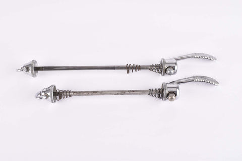 Campagnolo quick release set Record and Super Record, #1001/3 and #1006/8 front and rear Skewer from the 1970s - 80s