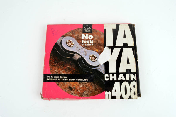 NEW Taya M408 5-6-7 speed chain 1/2 x 3/32, 116 links from the 1980s NOS/NIB