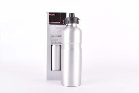 Point water bottle, alu, silver