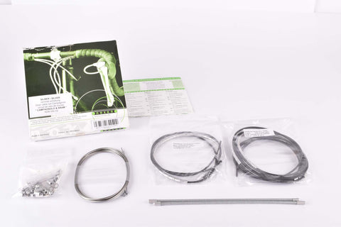 NOS/NIB Nokon Konkavex roadbike shifting cable set with silver aluminum housing for Campagnolo & SRAM (#KON 050 23)
