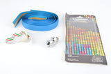 NEW 3ttt blue handlebar tape with silver end plugs from the 1980s NOS/NIB