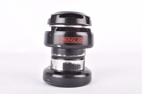 Stronglight X12 needle bearings Headset in black with english thread from the 1980s