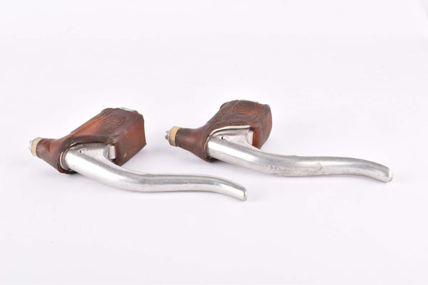 Universal Mod. 61 Brake Lever Set with brown hoods from the 1960s