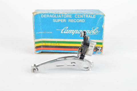 NOS/NIB 3 hole Campagnolo Super Record #0104011 Braze-on front derailleur from the 1980s