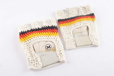 NEW German crochet cycling gloves in size medium from 1980s NOS/NIB