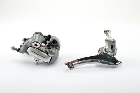 Shimano 600 Ultegra Tricolor #6401 front + rear derailleur set from 1991/96