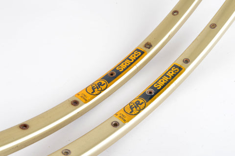 NEW FIR Sirius gold anodized tubular Rims 700c/622mm with 36 holes from the 1980s NOS