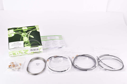 NOS/NIB Nokon Konkavex mountainbike shifting cable set with white aluminum housing (#KON 011 15)