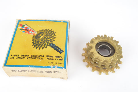 NOS/NIB Regina Extra Oro Gold 6-speed Freewheel with 13-18 teeth from the 1970s - 80s
