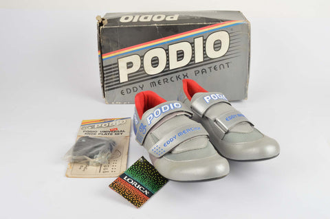 NEW Eddy Merckx S.F.S 2000 Podio Cycle shoes with cleats in size 45 from the 1980s NOS