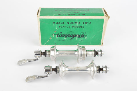 NOS/NIB Campagnolo Nuovo Tipo #1251 Low Flange Hub Set from 1982, with 36 holes and italian thread